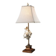 Conch Shell And Bronze Table Lamp - MEK2466