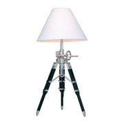Chrome And Black Table Lamp - MEK2486