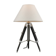 Chrome And Black Table Lamp - MEK2487