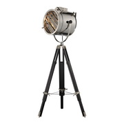 Chrome And Black Floor Lamp - MEK2488
