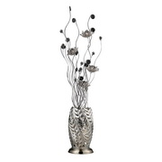 Chrome And Black Floor Lamp - MEK2491