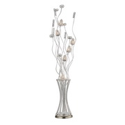 Satin Nickel Floor Lamp - MEK2492
