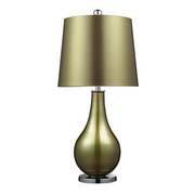 Sigma Green . Polished Nickle Table Lamp - MEK2516