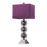 Purple & Black Nickle Table Lamp - MEK2520