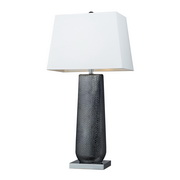 Black Pearl & Chrome Table Lamp - MEK2525