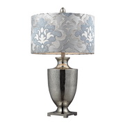 Antique Mercury Glass With Polished Chrome Table Lamp - MEK2531