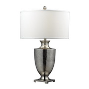 Antique Mercury Glass With Polished Chrome Table Lamp - MEK2532