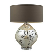 Turrit Gloss Beige Table Lamp - MEK2540
