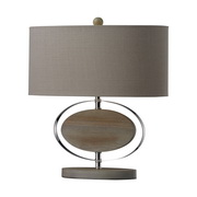 Bleached Wood With Chrom Finish Table Lamp - MEK2545