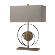 Bleached Wood With Chrom Finish Table Lamp - MEK2546