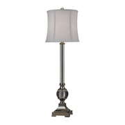 Clear & Polished Nickel Table Lamp - MEK2553