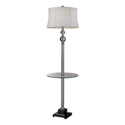 Clear & Polished Nickel Floor Lamp - MEK2554
