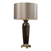 Coffee Swirl & Antique Brass Table Lamp - MEK2577
