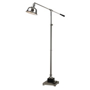 Polished Nickel & Black Floor Lamp - MEK2582