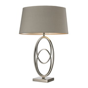 Polished Nickel Table Lamp - MEK2587