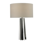 Chrome With Clear Crystal Table Lamp - MEK2593