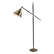 Antique Brass With Black Floor Lamp - MEK2617
