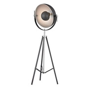 Matt Black With Polished Nickel Floor Lamp - MEK2634