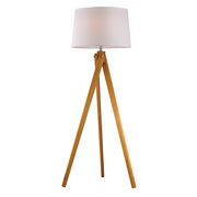 Natural Wood Tone Floor Lamp - MEK2635