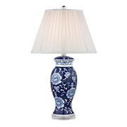 Blue And White Hand Paint Table Lamp - MEK2640