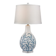 Pale Blue With White Table Lamp - MEK2644