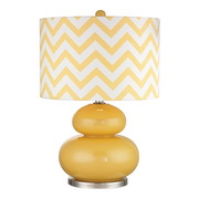 Sunshine Yellow With Polished Nickel Table Lamp - MEK2660
