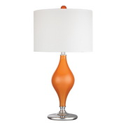 Tangerine Orange With Polished Nickle Table Lamp - MEK2667