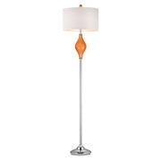 Tangerine Orange With Polished Nickle Floor Lamp - MEK2668