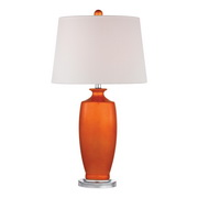 Tangerine Orangewith Polished Nickle Table Lamp - MEK2670