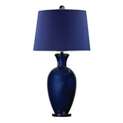 Navy Blue With Black Nickle Table Lamp - MEK2671