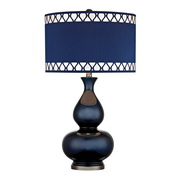Navy Blue With Black Nickle Table Lamp - MEK2672