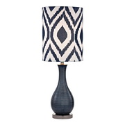 Navy Blue With Black Nickle Table Lamp - MEK2673
