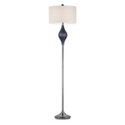 Navy Blue With Black Nickle Floor Lamp - MEK2679