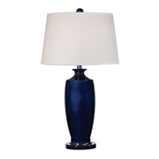 Navy Blue With Black Nickle Table Lamp - MEK2680