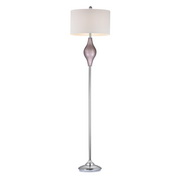 Lilac Luster With Polished Nickel Floor Lamp - MEK2686