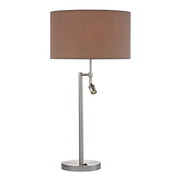 Satin Nickle Table Lamp - MEK2702