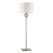 Antique Silver Mercury Glass With Crystal Accents Floor Lamp - MEK2704
