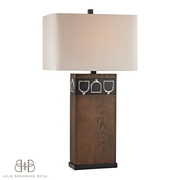 Antique Pine, Ob, Chrome Table Lamp - MEK2705