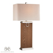 Dark Walnut, Polish Nickle, Chrome Table Lamp - MEK2706