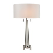 Clear, Chrome Table Lamp - MEK2732