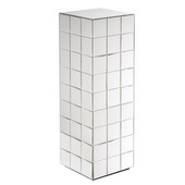 Howard Elliott Antares Tall Mirrored Puzzle Cube Pedestal - MHE4564