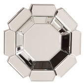 Designer Multi-faceted Octagonal Mirrored Mirror - MHE2184