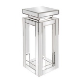 Designer Mirrored Pedestal Table - Small - MHE4657
