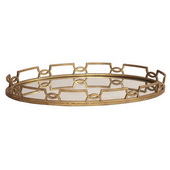 Howard Elliott Bright Gold Metal Tray  - MHE5022