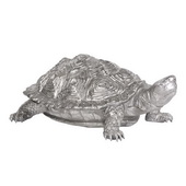 Designer Turtle Figurine Textured Pewter - MHE6622