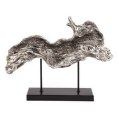 Designer Silver Plated Log Replica On Metal Stand - MHE4757