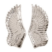 Designer Silver Wing Ceramic Wall Art - MHE4993