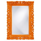 Designer Barcelona Orange Mirror - MHE3472