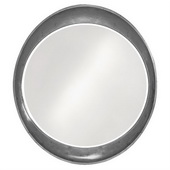 Designer Ellipse Glossy Charcoal Gray Mirror - MHE3501