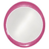 Designer Ellipse Glossy Hot Pink Mirror - MHE3502